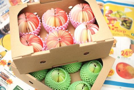 超级可爱的 水果 即时贴